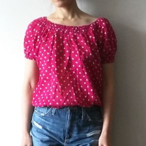 2/$25 French Connection polka dot blouse 0